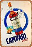 No/Brand Campari Aperitif Metall Blechschild Retro Metall