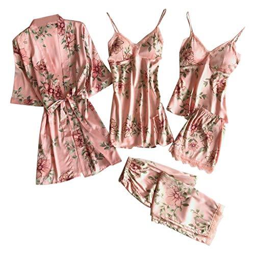 Luckycat Conjunto de 5piezas Pijamas de Encaje Bodysuit