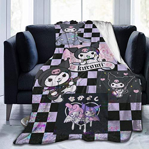 Tengyuntong Manta Ultra Suave Micro Fleece KU-r-o-mi Collage Lindo Suave Ligero Comic Amine Throw Plush Live Room 60 'x50'