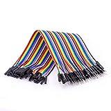 AZDelivery Jumper Wire cables de Puente 40 piezas F2M pines macho hembra para Arduino y Raspberry Pi Breadboard con eBook incluido