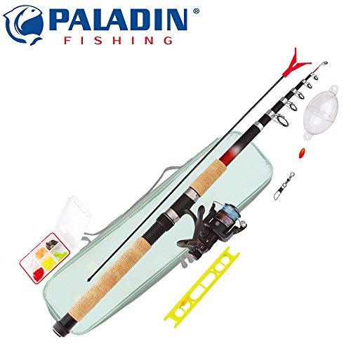 Paladin Forellencombo Easy Catch Spiral - Forellenrute+Rolle+Zubehör zum Forellenangeln, Forellenset, Angelrute zum Forellenangeln