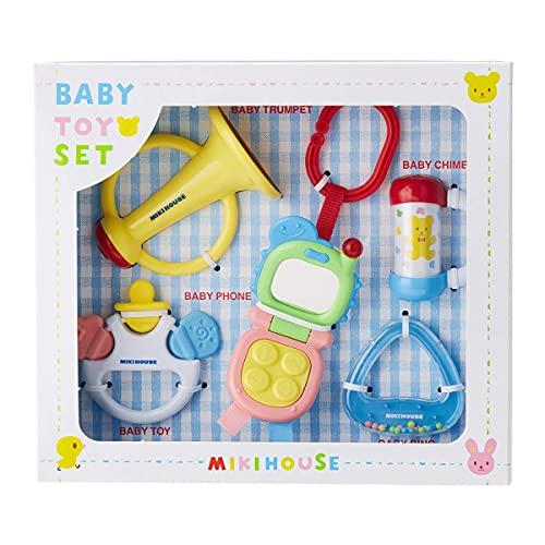 [ミキハウス] ベビートイセット (箱入) 46-1234-958 ベビー おもちゃ がらがら おしゃぶり 男の子女の子 子供