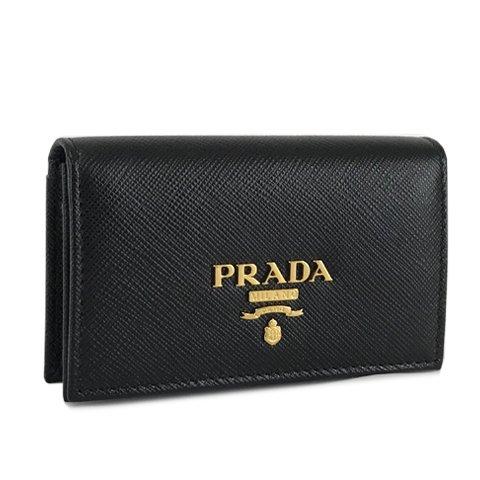 プラダ PRADA レディース カードケース 名刺入れ SAFFIANO METAL 1MC122 QWA F0002 NERO ブラック 2021ss (ブラック) [並行輸入品]