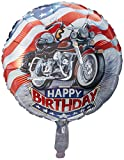 'Harley' Happy Birthday Mylar Balloon 18' Motorcycle
