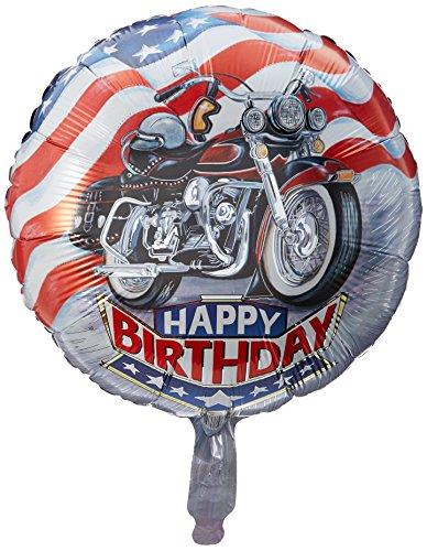 'Harley' Happy Birthday Mylar Balloon 18' Motorcycle