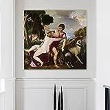 Ajwkob Kits de Pintura al óleo de Bricolaje por números Cristo Man Kit de Pinturas acrílicas de Bricolaje para niños con Pinceles Decoración del hogar Pintura en Lienzo (50cmx50cm)