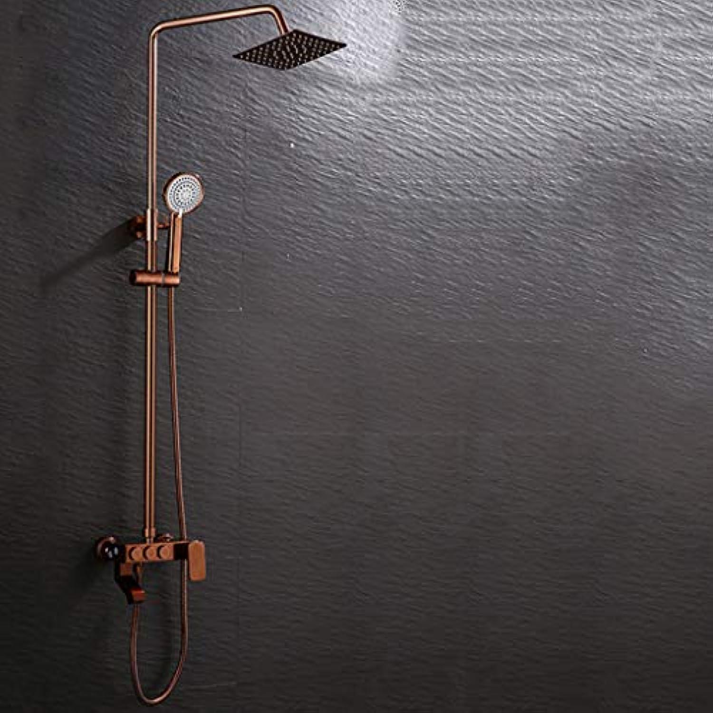 LHW Shower Set chset, Dusche, Dusche, RoséGold, Quartett, groe Dusche, Wasser, Wand, hei, kalt, Sprinkler, Dusche, Dusche