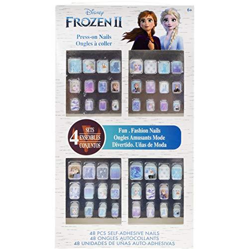 Townley Girl Disney Frozen II 48 PK Press- On Nails Set, Ages 6+