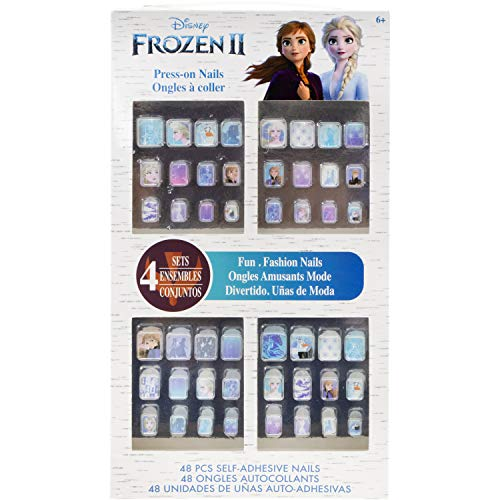 Townley Girl Disney Frozen II 48 PK Press- On Nails Set, Ages 6+