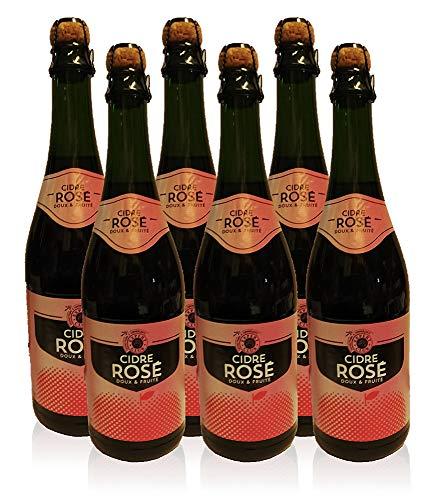 Cidre de Bretagne Rosé Doux La Fauconnerie Apfelwein Frankreich 6x0,75l