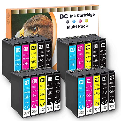 D&C 10er Set (B/C/M/Y) cartucce d'inchiostro (non originali) per Epson Expression Home XP-102,XP-202,XP-205,XP-212,XP-215,XP-225,XP-30,XP-302,XP-305,XP-312,XP-313,XP-315,XP-322,XP-325,XP-33 con chip