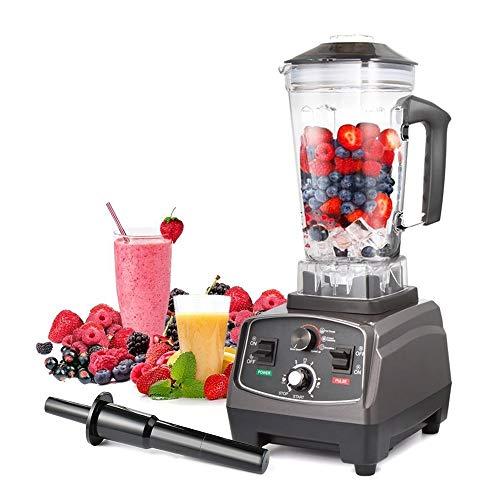 Mélangeur Professionnel 2L, Robot culinaire Multifonction et Machine à Smoothies, mélangeur à Grande Vitesse, pour crème glacée, Aliments pour bébés, Smoothies, café en Grains