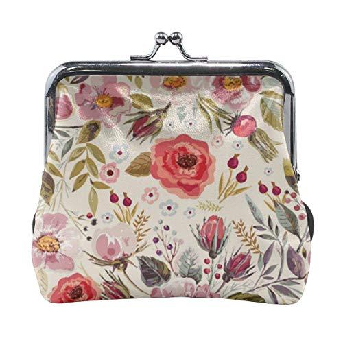 Bungalow Rose Fashion Women 'S Süße Leder Geldbörse Tasche Hasp Brieftasche Geldkartenhalter Mini Tasche Mit Kiss Lock Schnalle Für Mädchen Frauen, Geldbörse 11X10 cm
