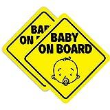 SEALEN Bebé a Bordo Signo Imán para el Coche, Pegatinas de Advertencia de Seguridad de Coche Reflexivo Magnético, Señal de Advertencia Etiqueta Calcomanía para Vehículos 2 PCS