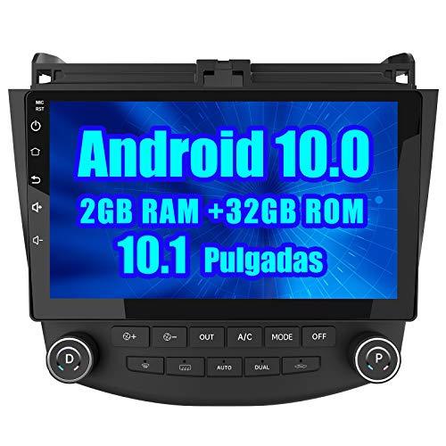 AWESAFE Android 10.0 [2GB+32GB] Radio Coche para Honda Accord VII con 10.1 Pulgadas Pantalla Táctil, Autoradio con Bluetooth/GPS/FM/RDS/USB/RCA, Apoyo Mandos Volante, Mirrorlink y Aparcamiento