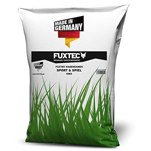 Rasensamen 10kg Sport + Spiel Rasen FUXTEC Grassamen Sportrasen Spielrasen