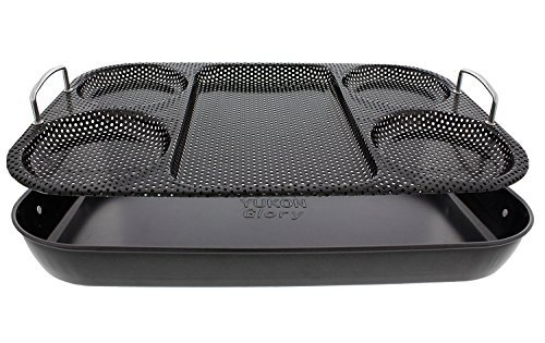 Yukon Glory Premium BBQ Serving Tray Basket, Serve Hot Dogs, Burgers, Grilled Vegetables, in Style