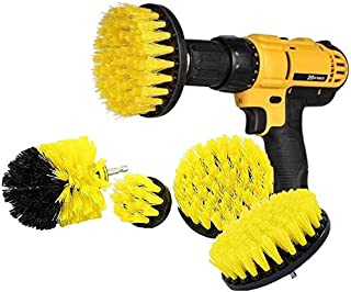 Drill Brush 4Pcs Scrub Brush Drill Attachment Kit,Time Saving Kit and Power Scrubber Cleaning Kit, for Car, Bathroom, Wood...