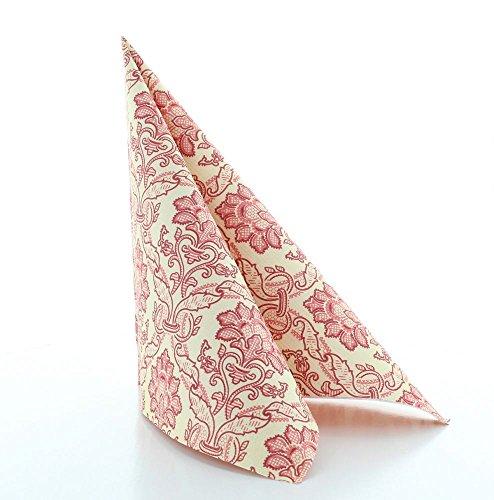 Vlag HORECA servet Cleve in bordeaux van Linclass® Airlaid 40 x 40 cm, 50 stuks