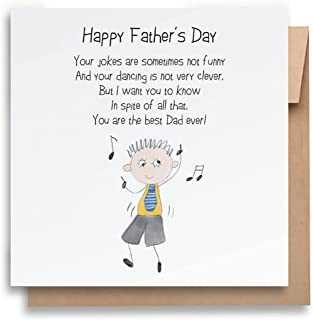 Father's Day Card – Best Dad Ever |With Envelope |Funny Father's Day Card |Humorous Father's Day Card | Greeting Card for ...