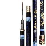 BAOBUM Telescópica 4.5M-9M Carbon Taiwan Caña de Pescar Herring Angeln Polos 8h 19 Exclusivo caña de Pesca de mar (Length : 8m)