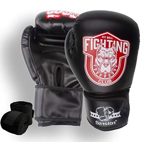 Senston Guantes de Boxeo Martial Adulto 10 OZ Guante de Entrenamiento para Hombres y Mujeres Guantes de Kickboxing para Boxeo, Artes Marciales, MMA, Boxing Gloves de Combate