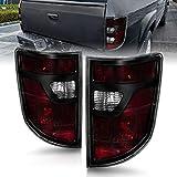 AmeriLite for 2006-2008 Honda Ridgeline Black Bezel Midnight Red OE-Style Replacement Tail Light Assembly - Driver and Passenger Side