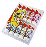Lefranc Bourgeois - Mes premières gouaches aux doigts lavables pour enfants - 10 tubes de 80ml