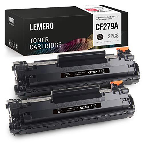 LEMERO Compatible Tóner para HP 79A CF279A para HP Laserjet Pro M12 M12W M12A M26 M26A M26NW Impresora 2Negro