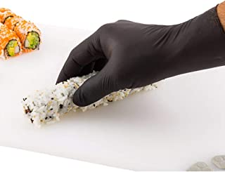 Small Black Nitrile Gloves - Powder-Free Food Safe Gloves: Perfect for Kitchen, Housekeeping and Janitorial Use - Disposab...