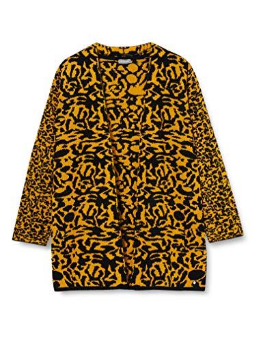Samoon Jacke Strick Suéter de Encogimiento de Hombros, Negro Estampado, XXXXX-Large para Mujer