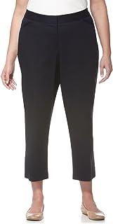 Rafaella Women's Plus-Size Double-Weave Ankle Pant
