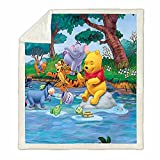 Trduast Winnie The Pooh Blanket Super Soft and Warm 3D Cartoon Plush Blankets, Children Pooh Bear Blankets for Couch Or Bed 50'X40'