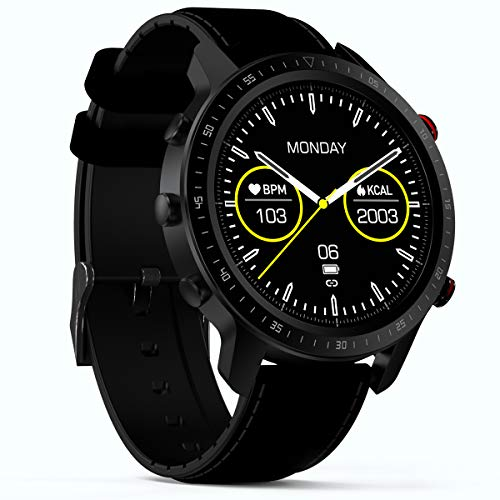 SANAG SmartWatch,Activity Tracker con cardiofrequenzimetro Sleep Monitor per Android iPhone Huawei Samsung Xiaomi, Full Touch Screen Impermeabile Sport Smartwatch