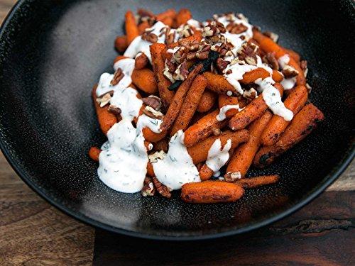 BBQ Baby Carrots with Dill-Yogurt Sauce