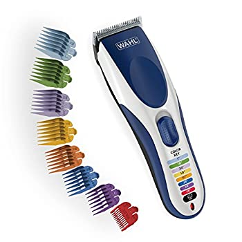 Wahl Color Pro Cordless Rechargeable Hair Clipper & Trimmer - Easy Color-Coded Guide Combs - for Men Women & Children - Model 9649