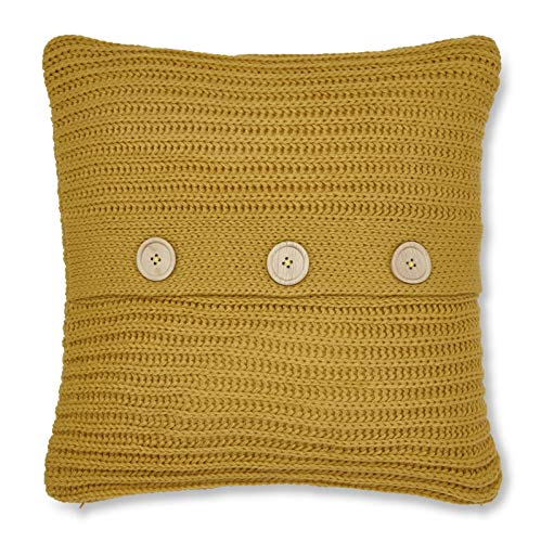 Catherine Lansfield Chunky Knit Cushion Cover 45x45cm Ochre