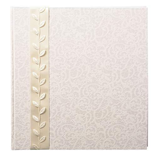 Goldbuch Album Fotografico Romantico, 30 x 31 cm, 60 Pagine con Pergamena, Carta Stampata Artistica a Rilievo, Argento, La Belle, 30x31 cm