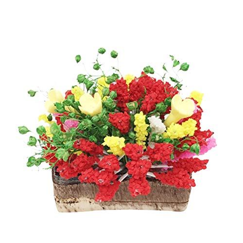 Supvox Puppenhaus Blume Miniatur Mini Garten Szene Puppenhaus Dekoration Zubehör Fairy Garden Kit für Kinder