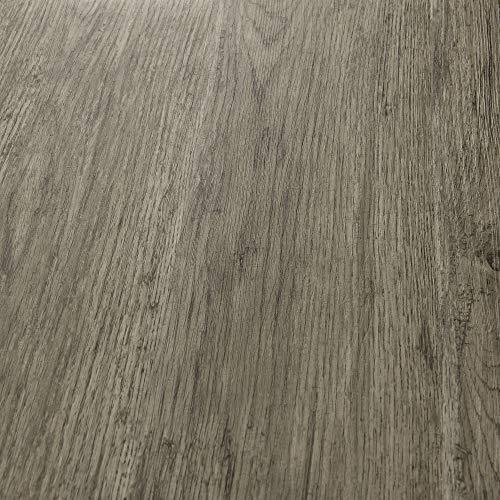 neu.holz Pisos de Vinilo-PVC Decorativo Diseño de Pisos laminados Suelo Autoadhesivo 7 planchas Decorativas = 0,975 m² Roble Tono Gris