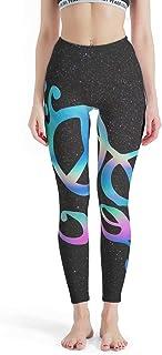 Charzee dam Peace & Love Yoga Pants långbyxor gym träning capri-byxor snabbtorkande säker fred & Love mönster idrottare ny...