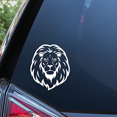 Lplpol Hochwertiger Anti-Staub-Vinyl-Aufkleber/Löwenkopf-Aufkleber für Autofenster, Stoßstange oder Laptop, Auto-Aufkleber, Fenster-Aufkleber, Laptop-Aufkleber, 15,2 cm (6 Zoll)