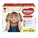 HUGGIES Simply Clean Fragrance-Free Baby Wipes,Soft Packs, 648 Total...