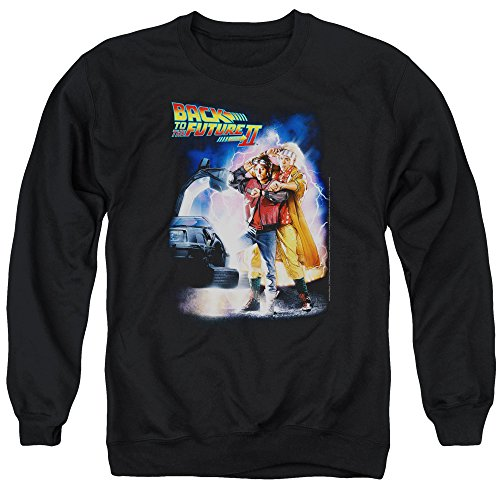 Adults Back to The Future 2 Sweatshirt, Black, S to 3XL
