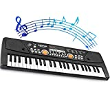 LYBALL Kids Keyboard 49-Key Piano LED Display Electronic...