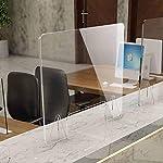 Mampara de protección 120 x 80 cm, de metacrilato, transparente, con ventanilla de 15 x 26 cm, 4 mm ... #7