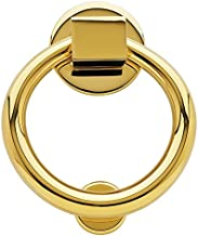 Baldwin 0195.003 Lifetime Polished Brass Ring Door Knocker