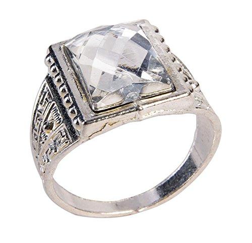 Forum Novelties X78766 Roaring 20s Ring, Womens, Silver, One Siz