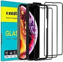 omitium Verre Trempé pour iPhone 11 Pro Max, [3 Pièces] Protecteur D'écran iPhone XS Max avec Cadre d'Alignement 9H...