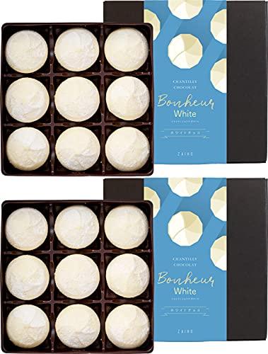 財宝 シャンティショコラボヌールホワイト 生チョコ トリュフ 9個 × 2箱